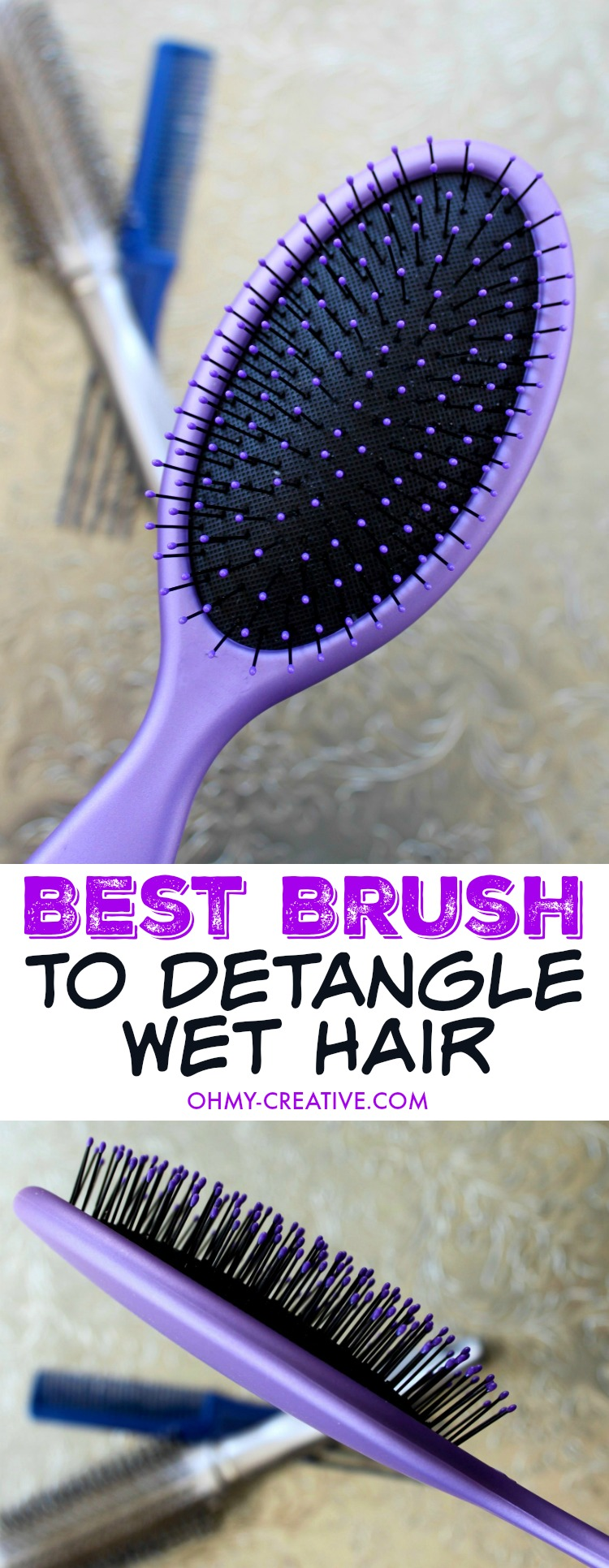 The Best Brush to Detangle Wet Hair - a hairbrush that doesn't hurt