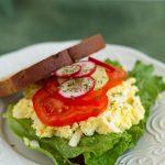 Homemade Egg Salad Sandwich