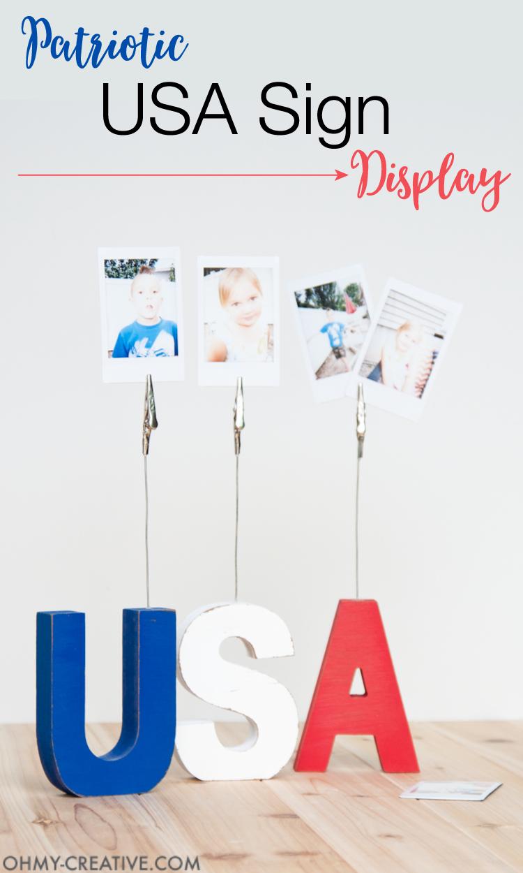 Patriotic USA Sign Display