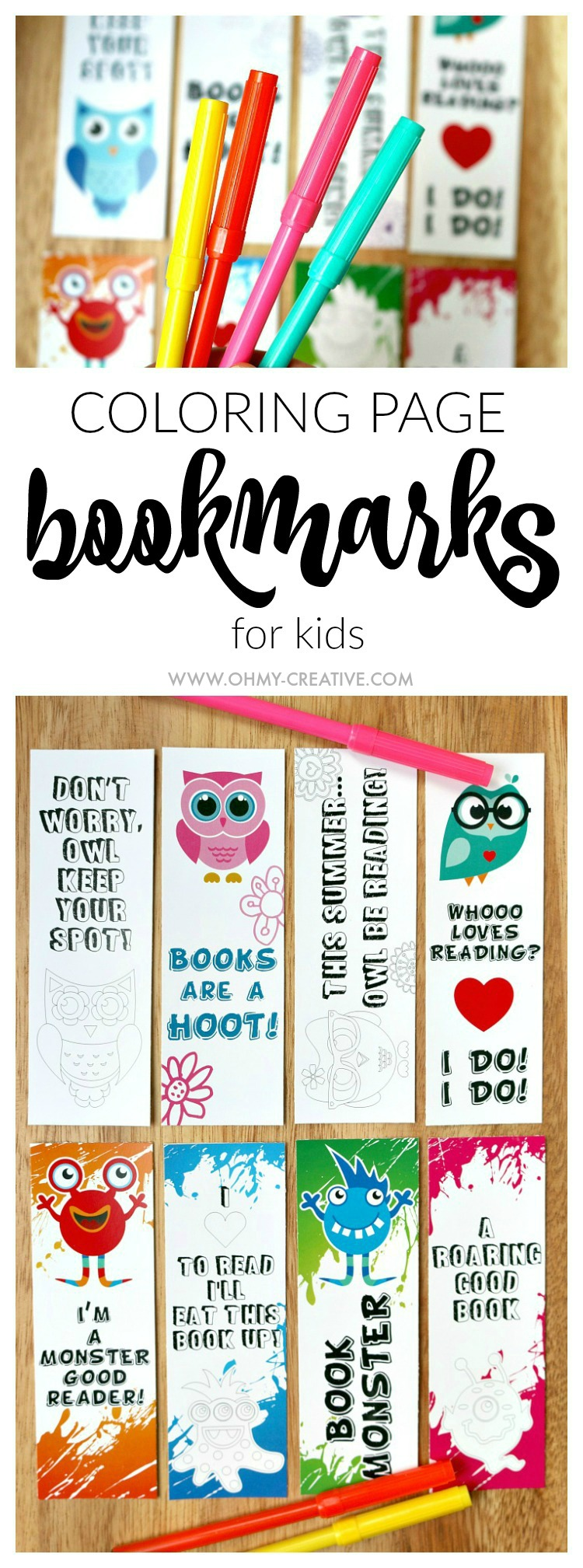 Free coloring pages for reading - Use These Adorable Free Printable Bookmark Coloring Pages To Get The Kids Interested In Reading And
