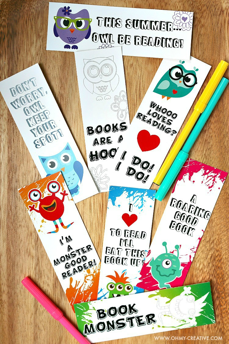 Resource image pertaining to free printable bookmarks