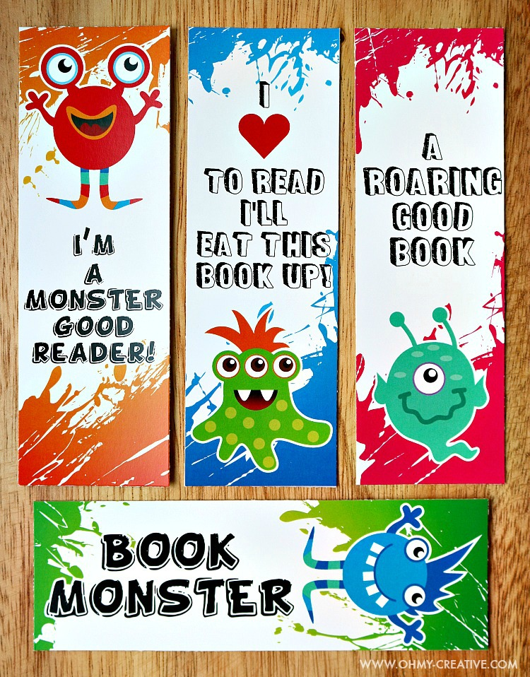 Resource image pertaining to free printable bookmarks for kids