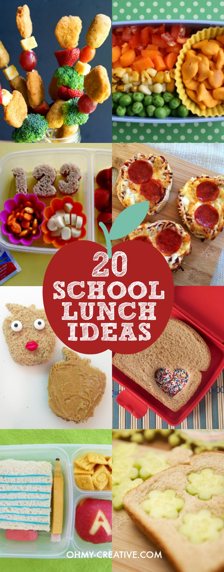 20 Creative School Lunch Ideas for Kids