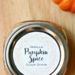 Vanilla Pumpkin Spice Sugar Scrub Free Printable Label