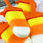 Yogurt Candy Corn Pops