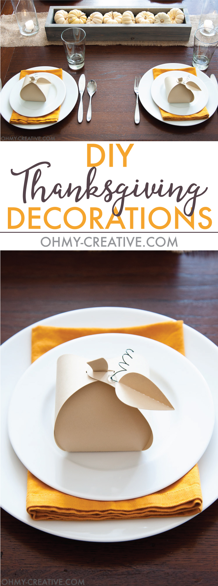 Pumpkin diy thanksgiving decorations oh my creative