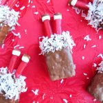 Santa's Stuck in the Chimney Rice Krispie Bars - Perfect for Christmas parties or school treats! Rice Krispie Treats are always a big hit with the kids!   OHMY-CREATIVE.COM