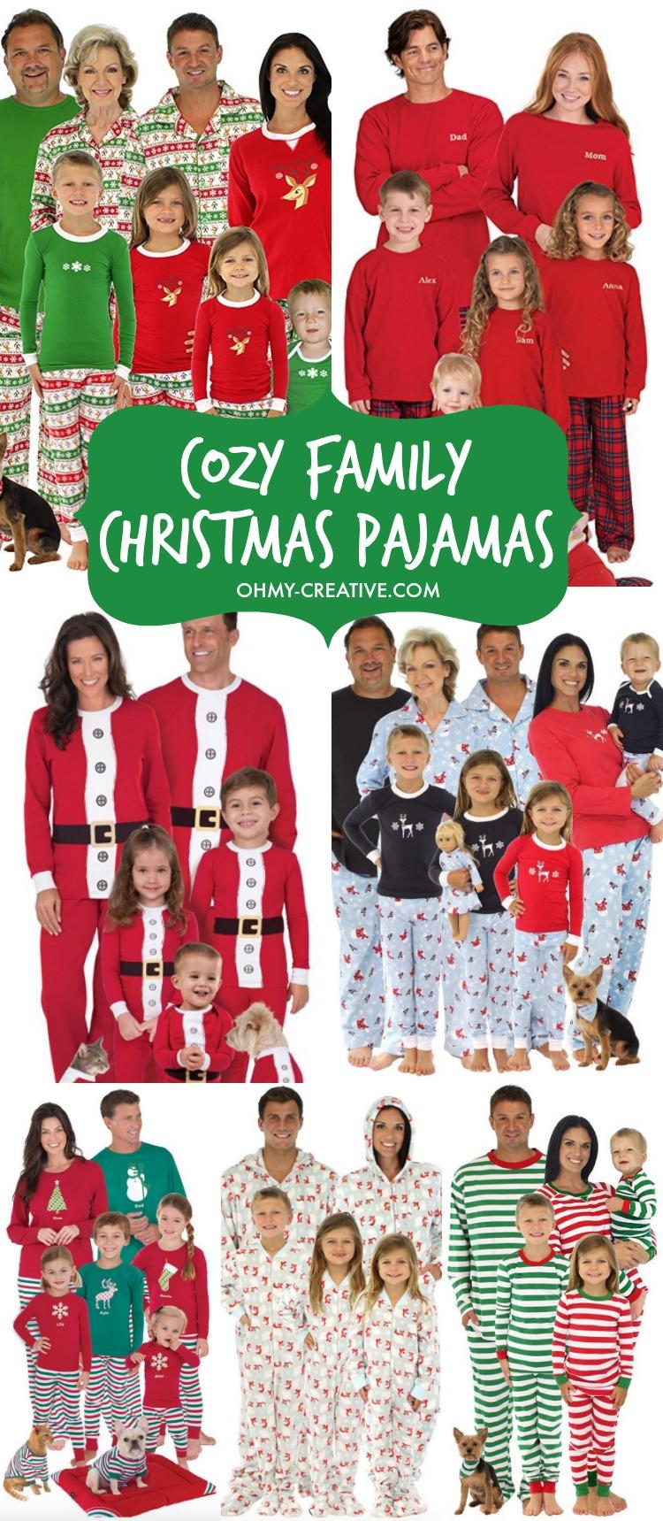 11 COZY FAMILY CHRISTMAS PAJAMAS FOR 2021!