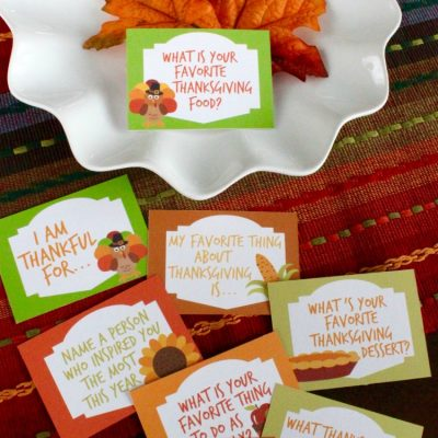Thanksgiving Conversation Starters Free Printables