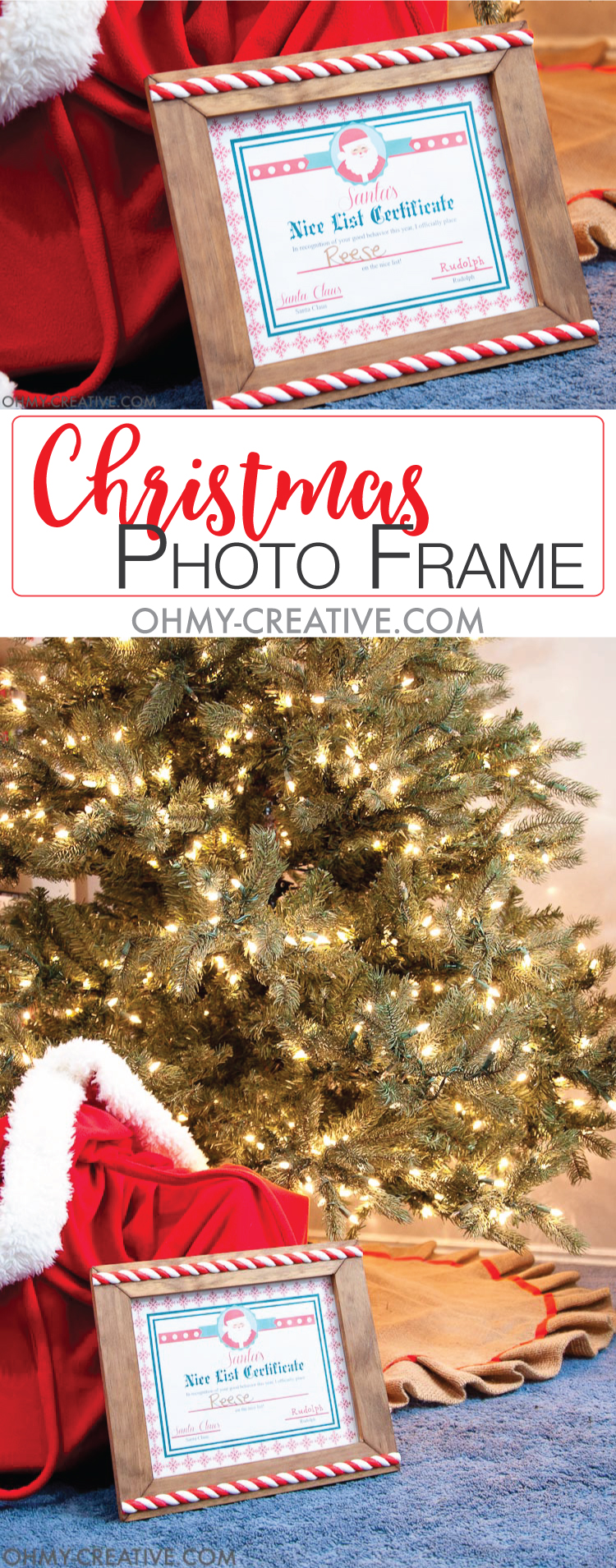 diy christmas photo frame oh my creative