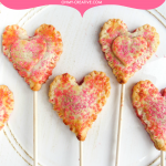 Mini Cherry Pies | Heart Pie Pops