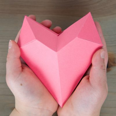 How to Make a 3D Paper Heart Box