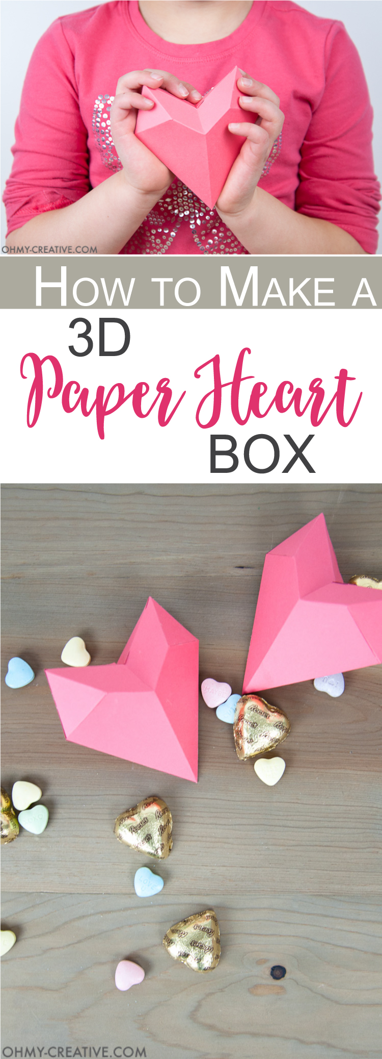 How to make a 3d paper heart box oh my creative how to make a 3d paper heart box paper valentine free printable valentine jeuxipadfo Gallery