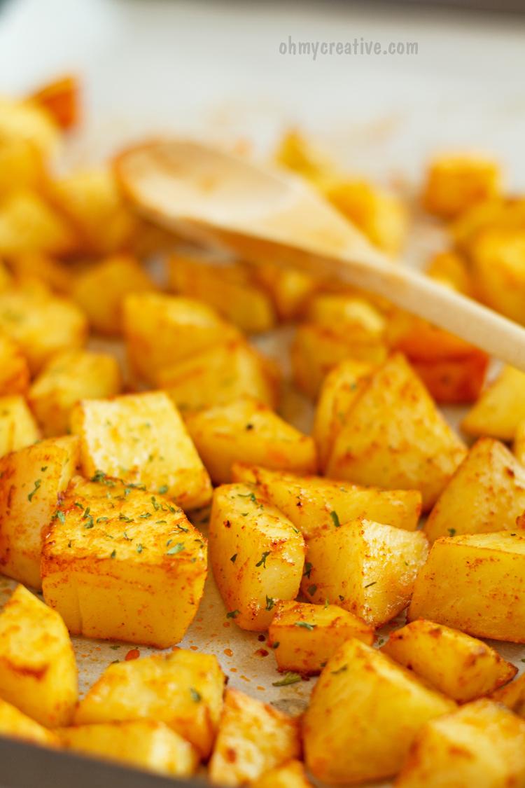 Sweet Paprika Oven Roasted Potatoes