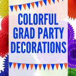 Colorful Party Graduation Decorations