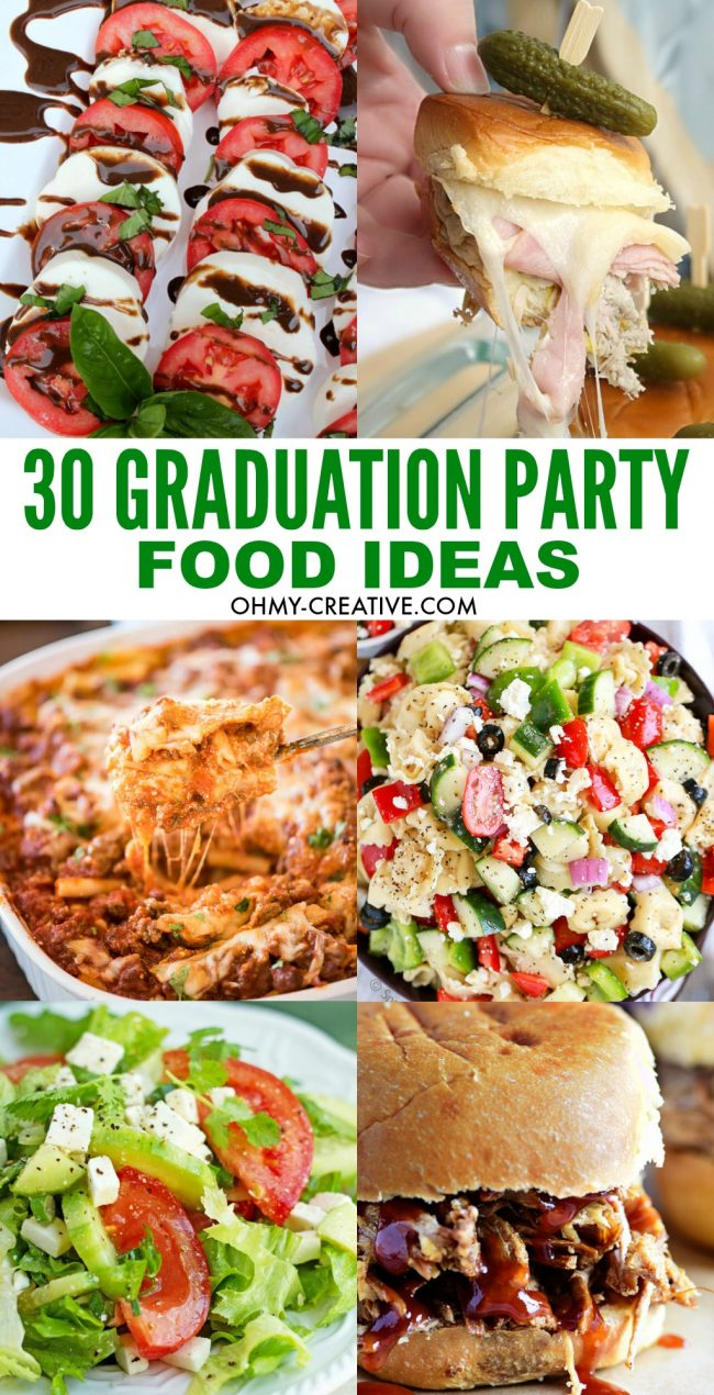 Nice Food For Dinner Party Ideas Part - 10: 30 Graduation Party Food Ideas | OHMY-CREATIVE.COM | Party Appetizers |  Casseroles