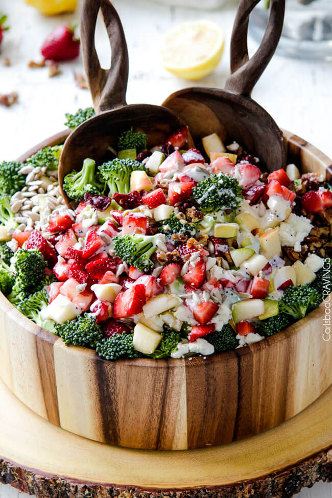 Graduation Party Dinner Ideas Part - 32: Strawberry Broccoli Salad | 30 Graduation Party Food Ideas |  OHMY-CREATIVE.COM