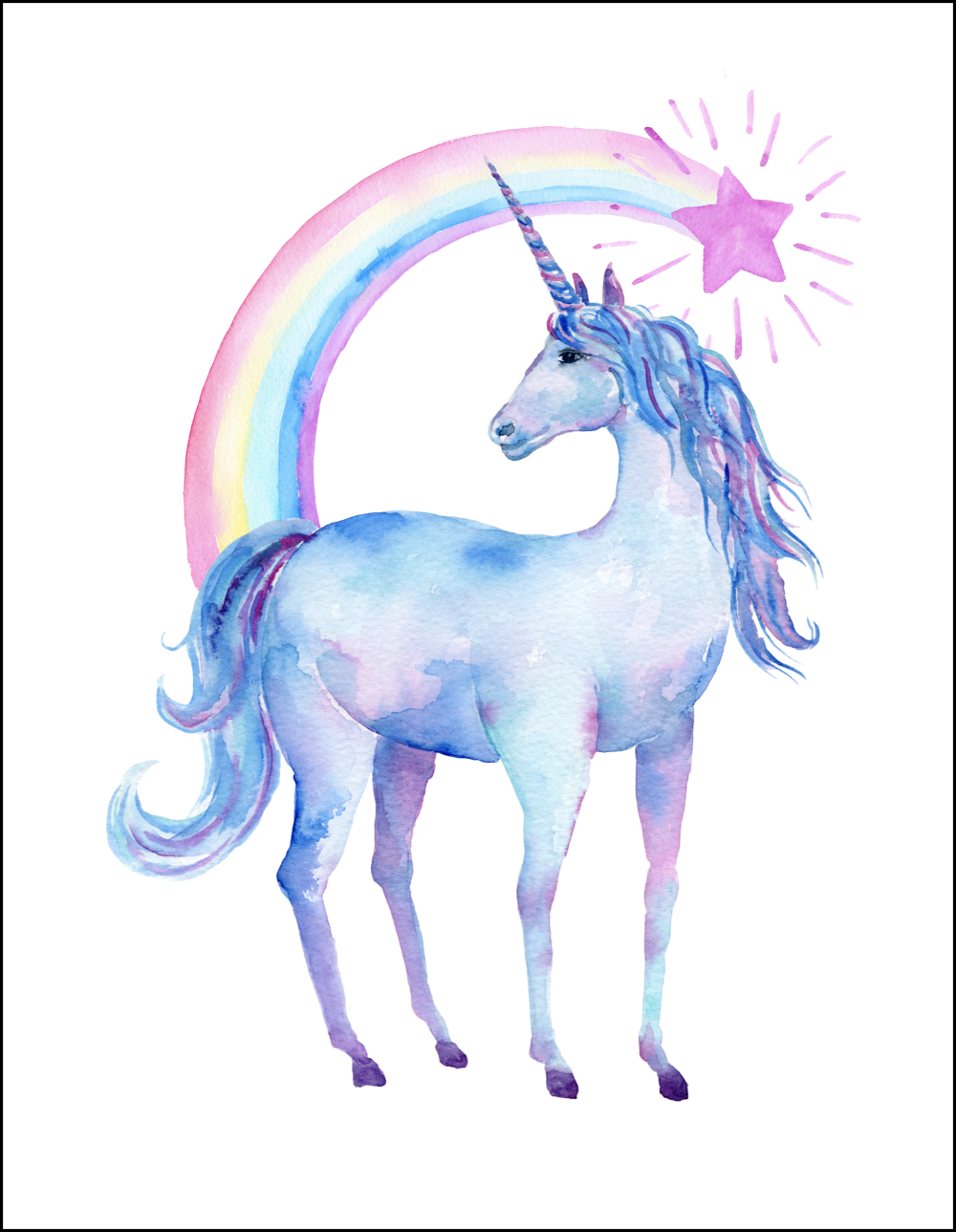 Modest image pertaining to printable unicorn