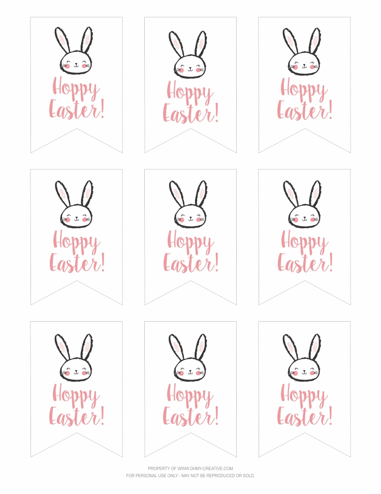 Free printable hoppy easter gift tags oh my creative hoppy easter gift tag set 2 3x45 negle