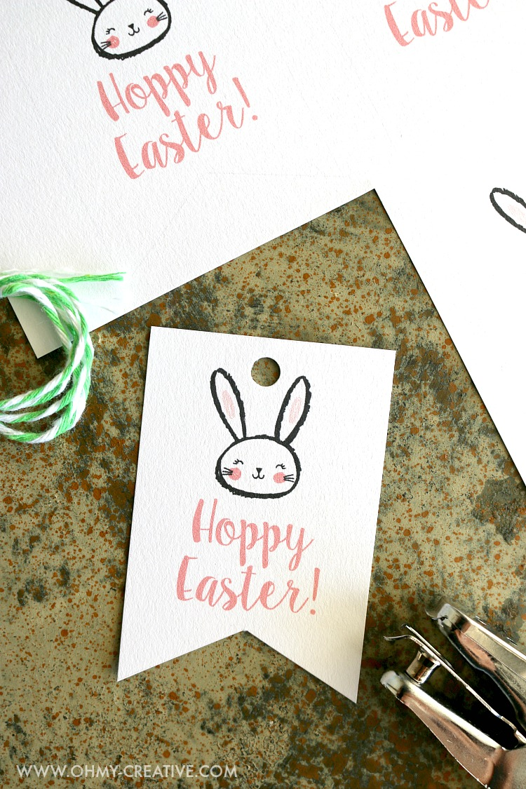 Free printable hoppy easter gift tags oh my creative free printable hoppy easter gift tags ohmy creative easter printable negle Images