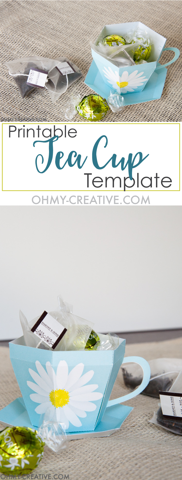 Create the perfect gift for spring with this Tea Cup Template. A tea cup gift for Mother's Day, Easter or Teacher Appreciation. OHMY-CREATIVE.COM   Paper Tea Cup   3D Tea Cup   Tea Cup Gift   Spring Gift Ideas   Paper Tea Cup Template   Mother's Day Gift Idea   Teacher Appreciation Gift   Bridal Shower Favor