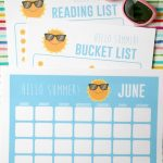 Printable Summer Activities For Kids Planner
