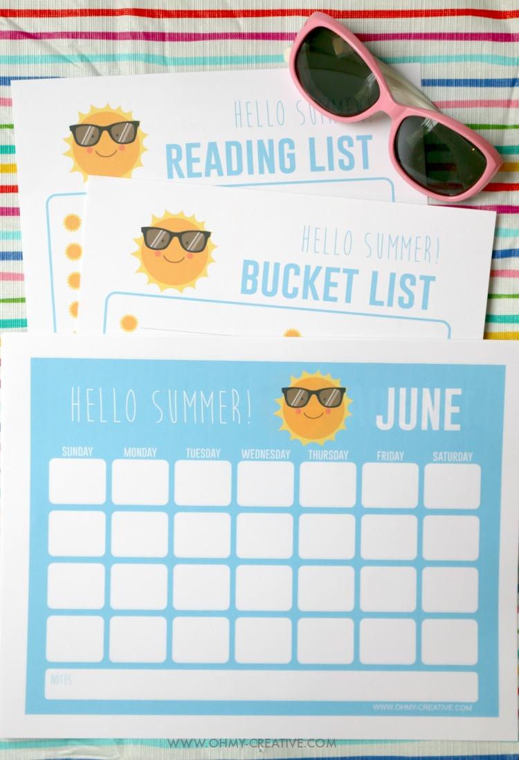 Printable Summer Activities For Kids Planner