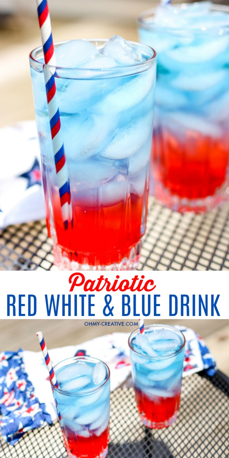 Th Of July Drinks Red White And Blue Non Alcoholic