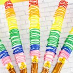 How To Make Chocolate Covered Pretzels With Rainbow Drizzel