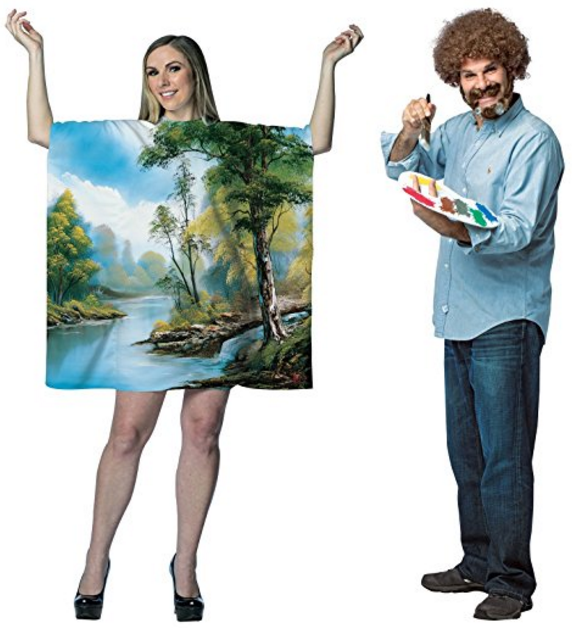 Bob Ross Artist Couples Costume Bundle Set | 50 Couples Halloween Costume Ideas