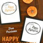 {Happy Halloween} Free Halloween Printables