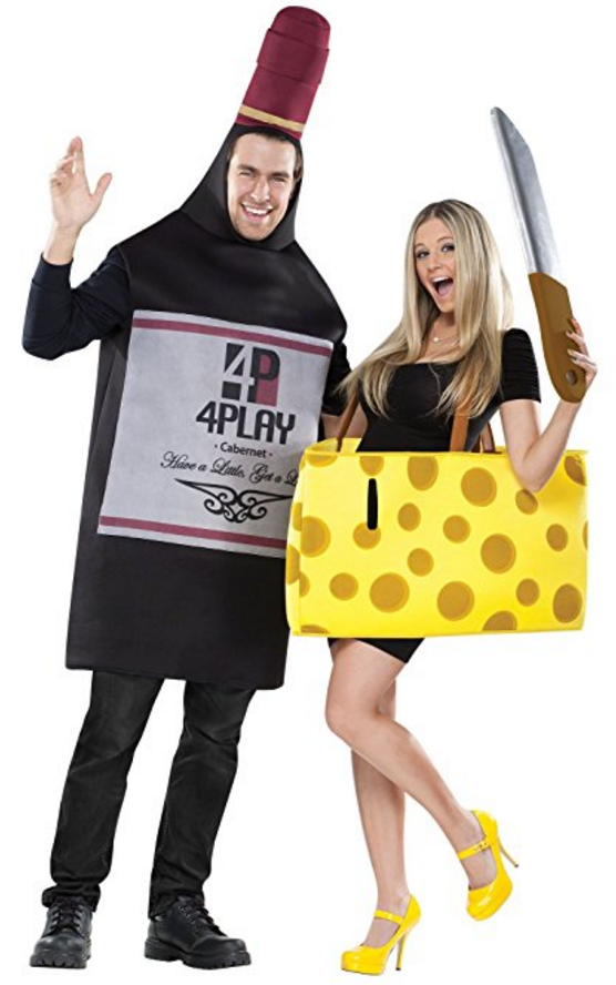 Perfectly Paired Wine And Cheese couples Costumes | 50 Couples Halloween Costume Ideas