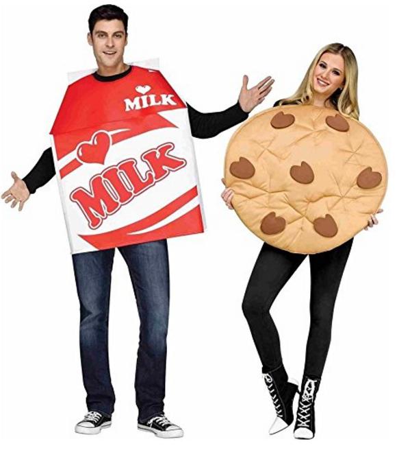 Unisex Milk Cookie Costumes | 50 Couples Halloween Costume Ideas