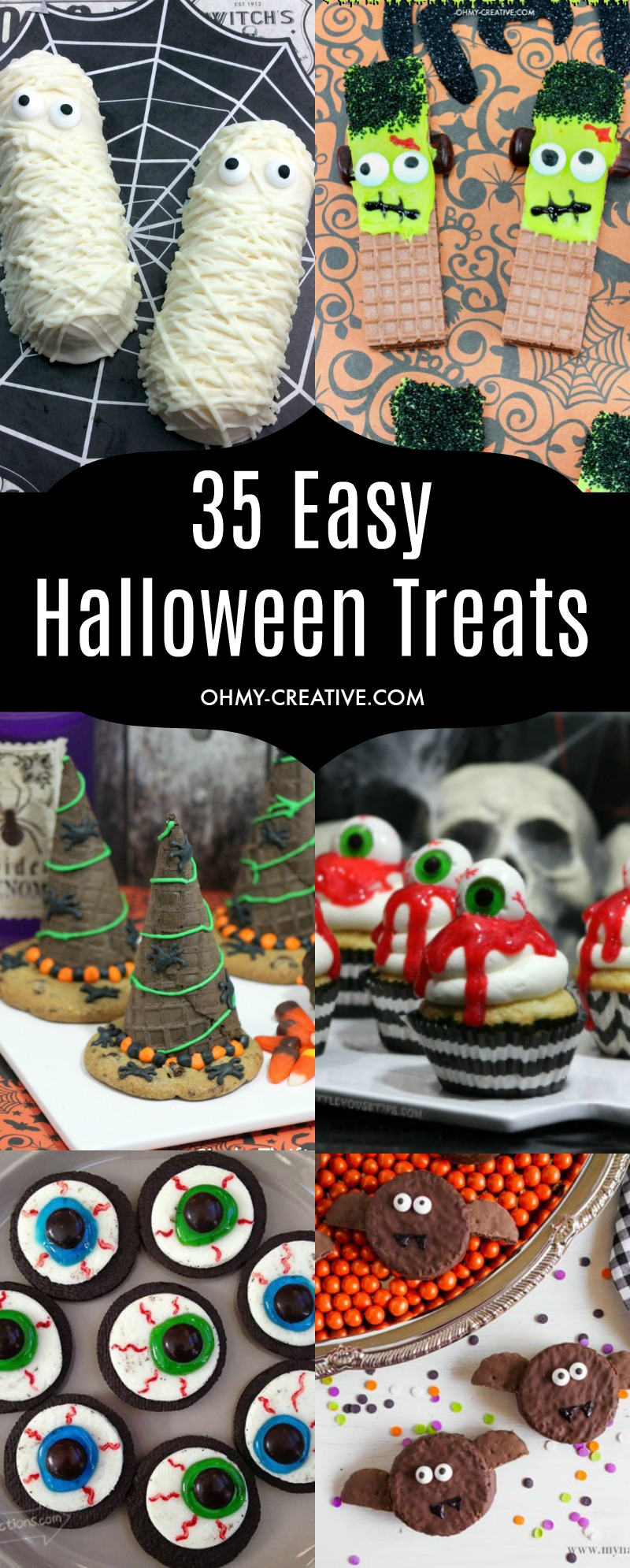 easy halloween treats to make oh my creative. Black Bedroom Furniture Sets. Home Design Ideas