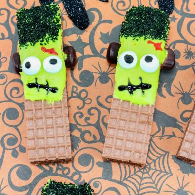 Frankenstein Cookies For Halloween