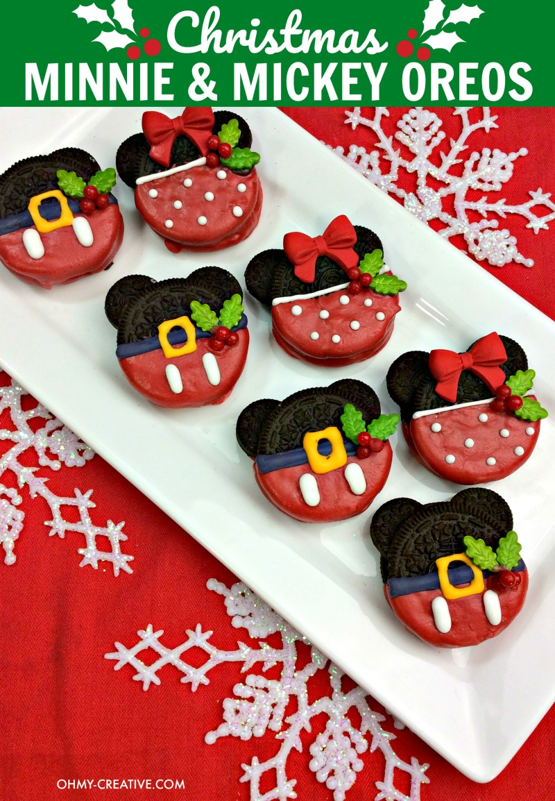 Christmas Minnie And Mickey Mouse Oreos Oh My Creative
