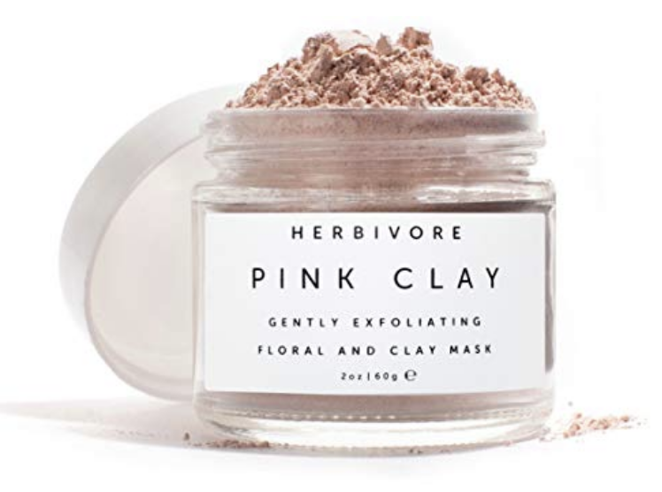 Herbivore Botanicals - All Natural Pink Clay Exfoliating Facial Mask. A Truly Beautifying & Skin Softening Mask