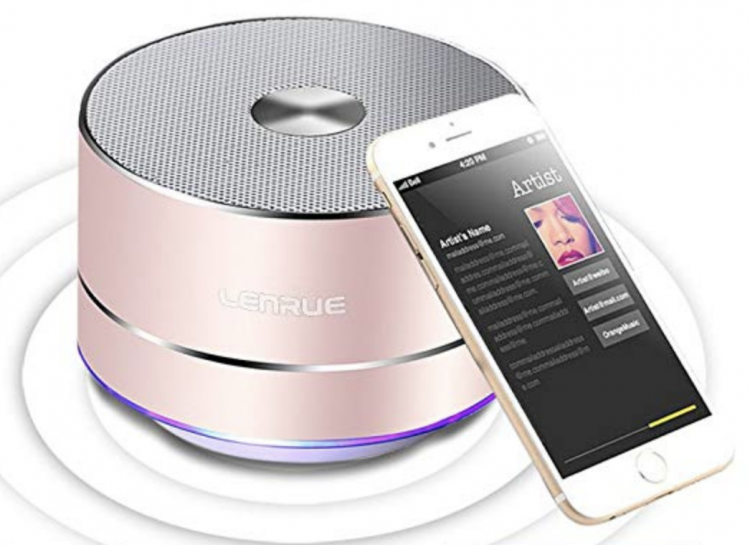 This Portable Wireless Bluetooth Speaker with Built-in-Mic has big sound for a small speaker!