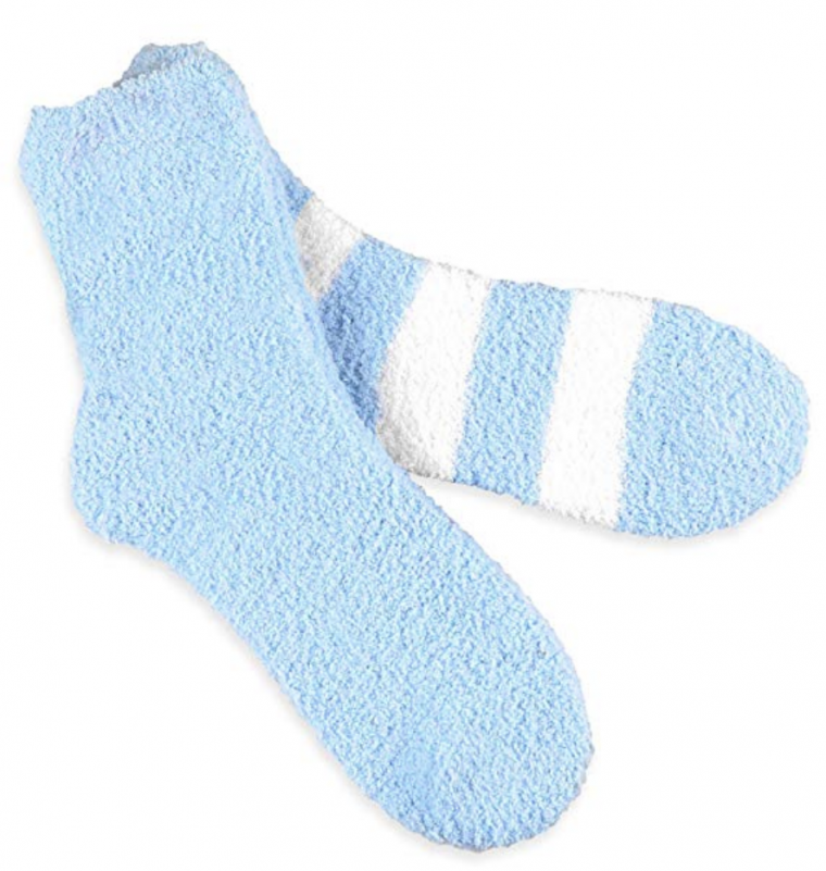 Women's Cozy fuzzy slipper socks available in six colors