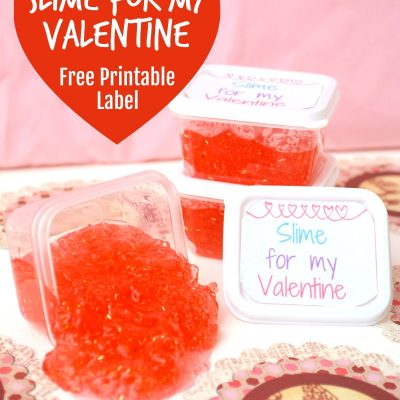 Homemade Slime Valentines With Printable Label