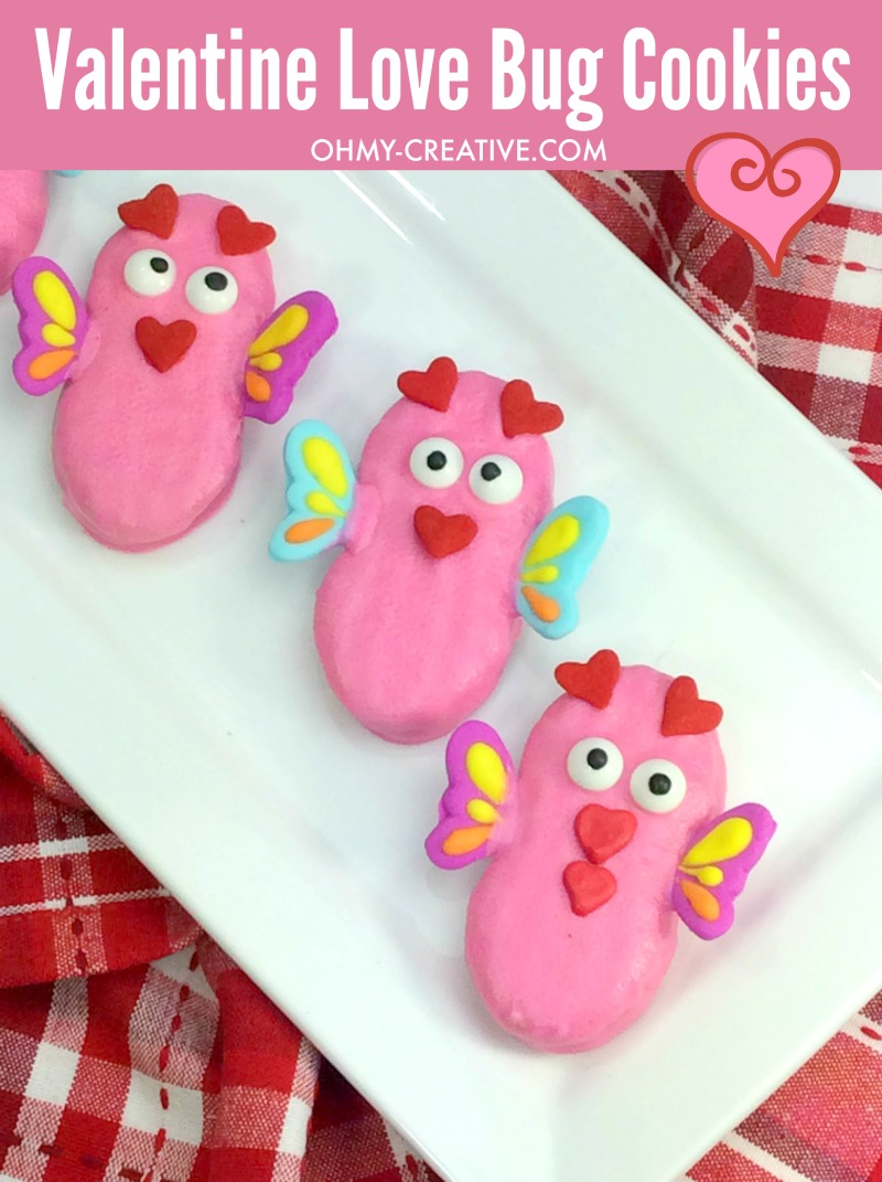 Nutter Butter Love Bug Cookies For Valentine's Day