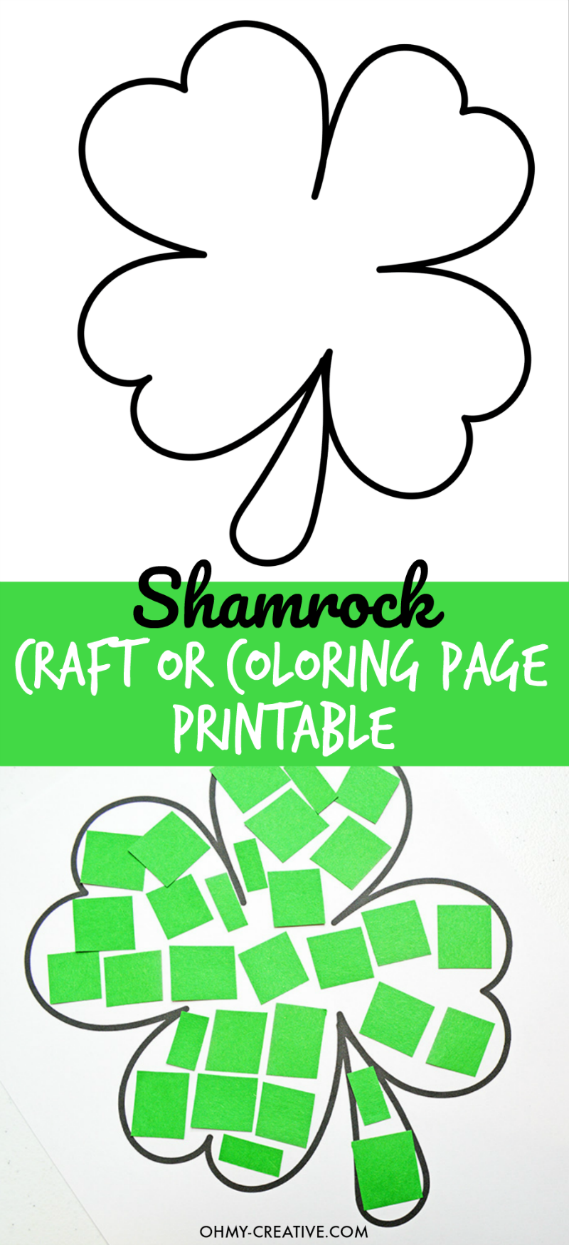 Cut And Paste Shamrock Template