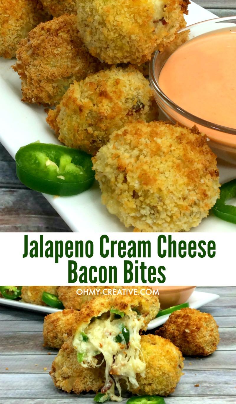 Jalapeno Cream Cheese Bacon Bites Appetizer   OHMY-CREATIVE.COM   Jalapeno Bacon   Cream Cheese Jalapeno Popper Recipe   Jalapeno Recipes Jalapeno Bites   Jalapeno pepper recipes   Jalapeno Bombers #appetizer #jalapenorecipe