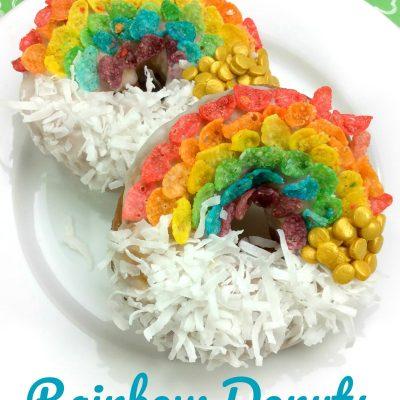 St. Patrick's Day Rainbow Donuts