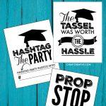 Printable Graduation Signs For Graduation Parties