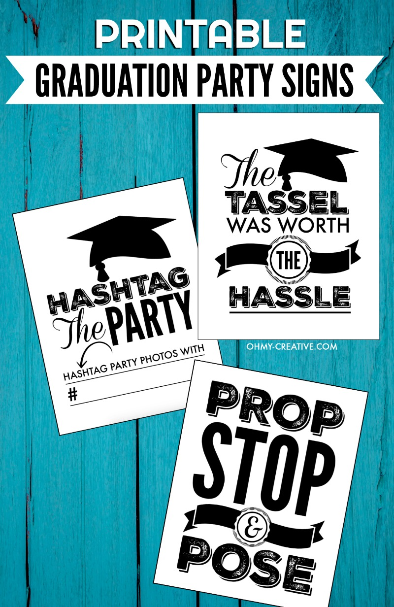 25 graduation party themes ideas and printables graduation party signs graduation signs ohmy creative high school graduation kristyandbryce Gallery