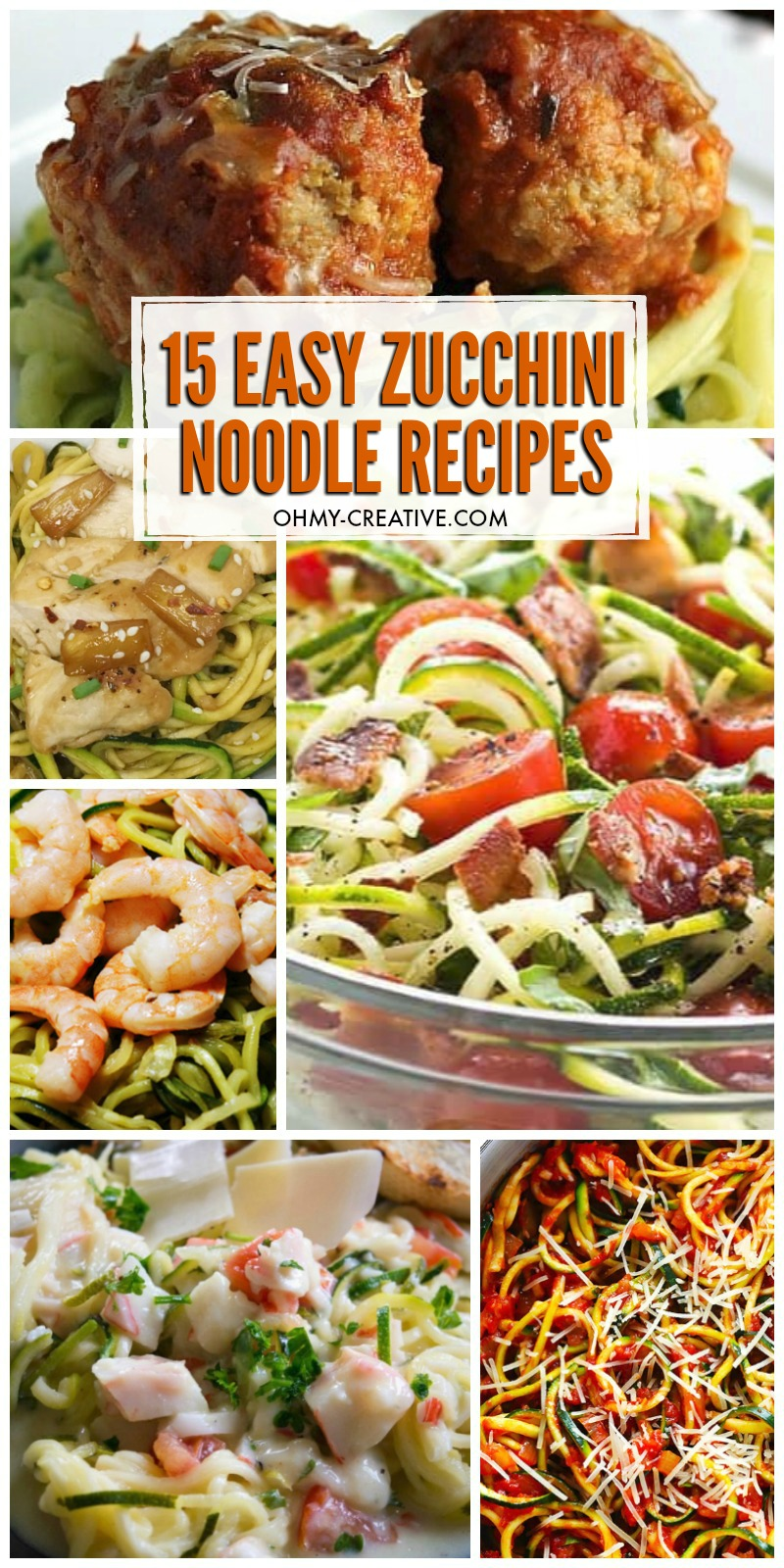 15 Easy Spiralized Zucchini Recipes (Zoodle Recipes)