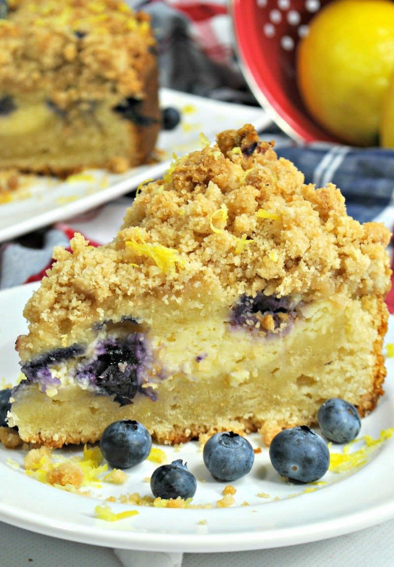 Ultimate Pressure Cooker Lemon Blueberry Cake Recipe With Cream Cheese Filling