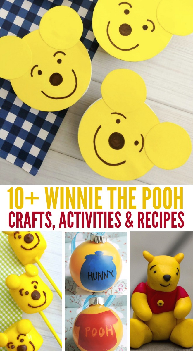 These Winnie The Pooh Activities, Crafts and Recipes are adorable to make for the Winnie the Pooh fan! OHMY-CREATIVE.COM #Winniethepooh #winniethepoohactivities #winniethepoohrecipes #winniethepoohcrafts