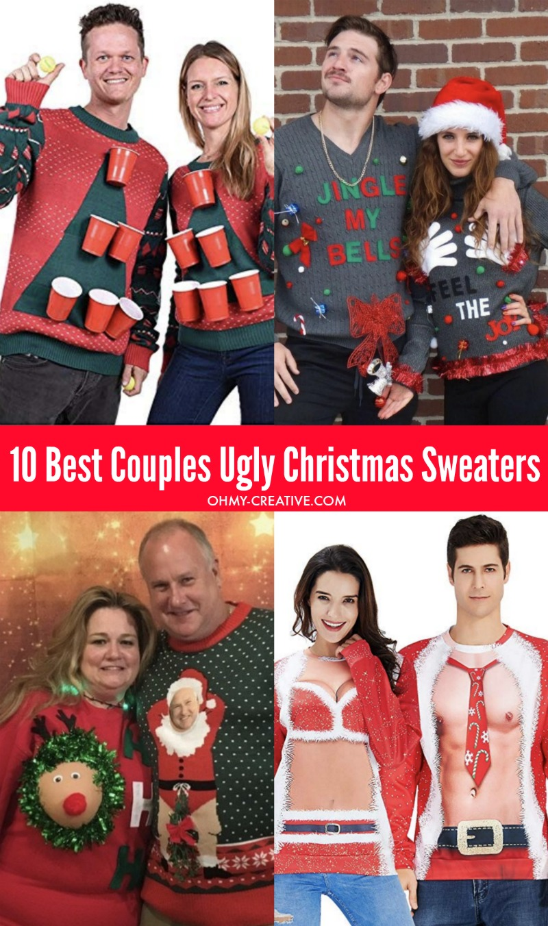 10 Of The Best Couples Ugly Christmas Sweaters